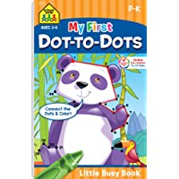 School Zone - My First Dot-to-Dots Workbook - Ages 3 to 6 - Preschool to Kindergarten, Activity Pad, Connect the Dots, Numbers 1-25, Coloring, and More (School Zone Little Busy BookTM Series)