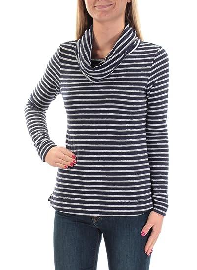 6de03cbf99d8 Maison Jules Striped Long Sleeve Cowl-Neck Sweater Blu Notte Combo ...