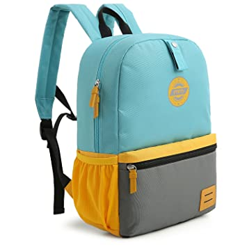 6afc9ef7c4c19b Amazon.com | mommore Large Size Kids Backpack for School Lunch Bag Chest  Clip for 4-7 Years Old, Light Blue | Backpacks