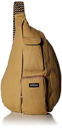 Ambry Rope Sling Bag, Backpack for Women Canvas Crossbody Shoulder Sling for Travel, Commuting and Hiking