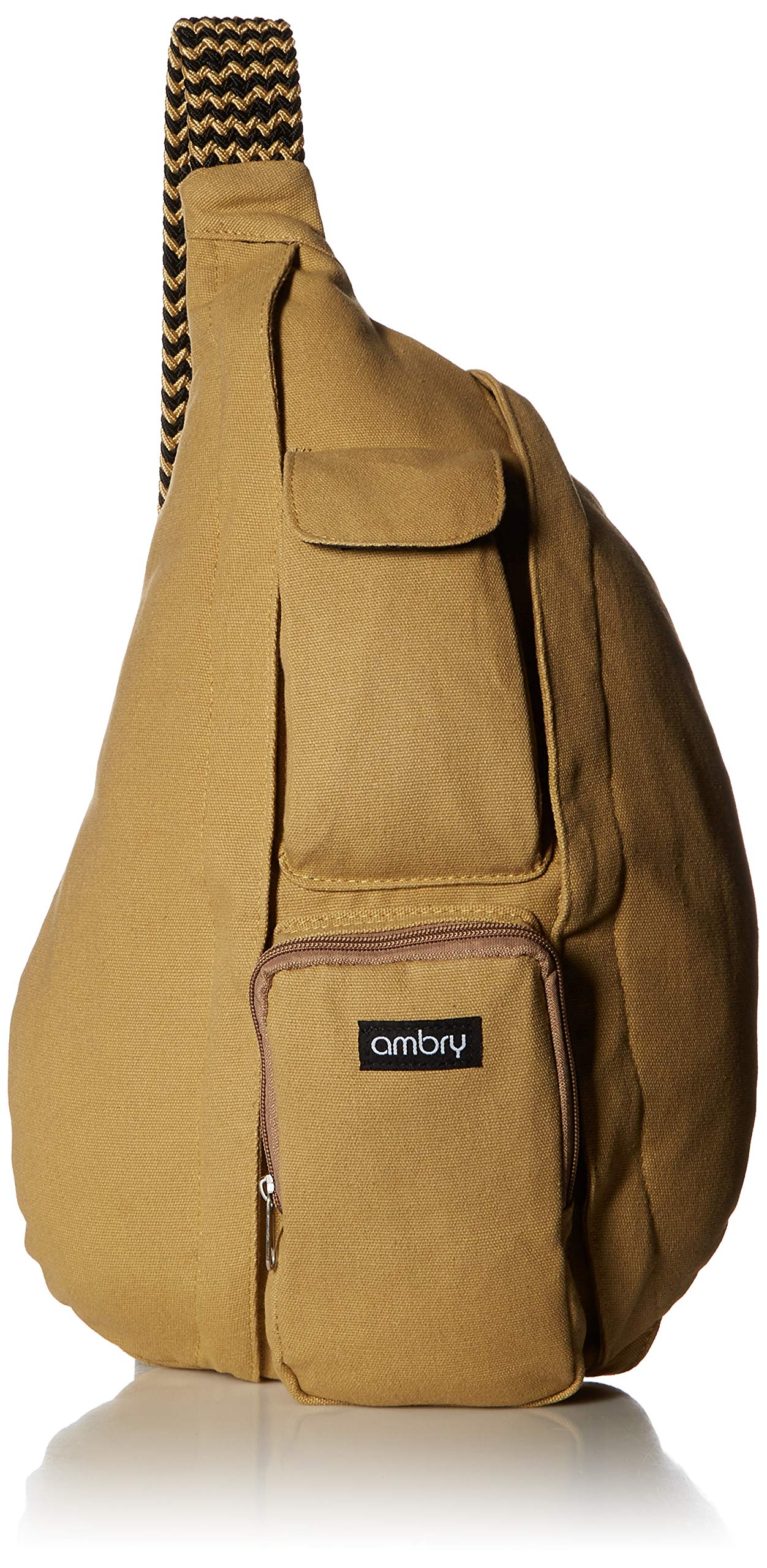Ambry Rope Sling Bag, Backpack for Women – Canvas Crossbody Shoulder Sling for Travel, Commuting and Hiking (Riley)