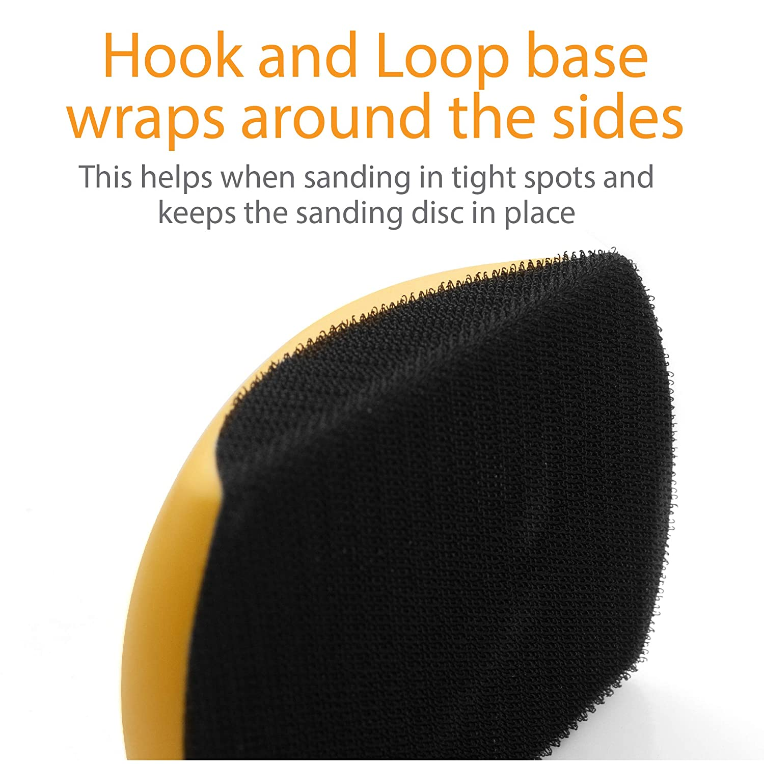 Furniture Restoration Ideal For Woodworking Accepts Standard Orbital Sanding Discs w//Hook and Loop Backing Home and Automotive Body Sanding Mouse Hook and Loop Sanding Block 5 Sanding Mouse