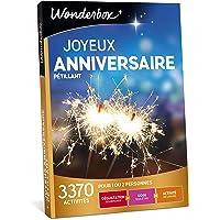 Wonderbox - Coffret cadeau anniversaire - JOYEUX ANNIVERSAIRE PETILLANT - 3370 dégustations, soins