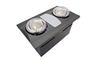 Aero Pure A515A OR Quiet Bathroom Fan with Heat and Light, Oil Rubbed Bronze