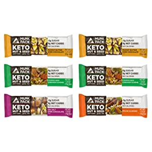 Munk Pack Keto Nut & Seed Bar, <1g sugar,=