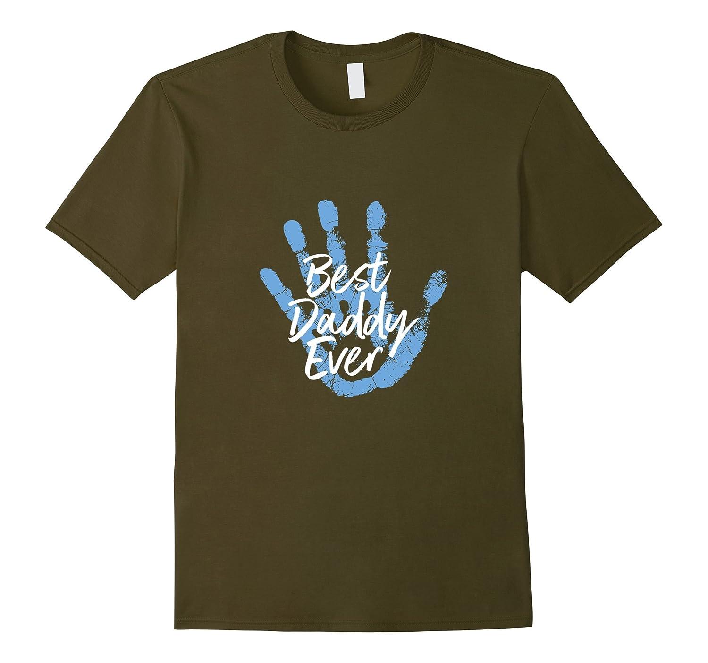 Mens Cute Best Daddy Ever Hand print Tshirt-Vaci