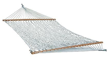 Oak N Oak Comfortable Sleeping Hanging Hammock/Cotton Rope Hammock Swing/Outdoor Hammock Furniture for Home Patio Garden, Beach, Camping & Leisure Backyard, 65 Extra Large Wide Deluxe - Off-White