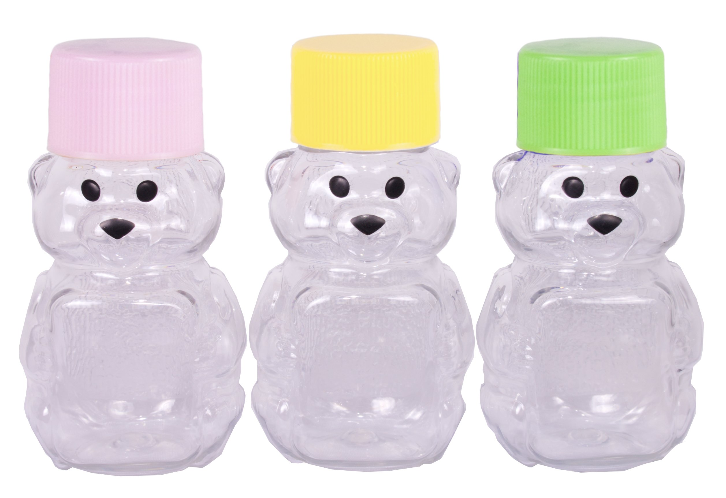 2-ounce RetroPak Plastic Panel Bear Easter Spring Variety 24-Pack (Lime green, yellow and pink caps)