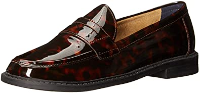 Cole Haan Women's Pinch Campus Penny Loafer, Tortoise Print Patent, ...
