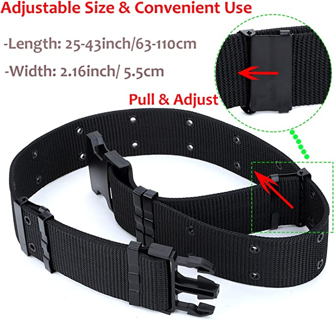 YAHILL/® Cintur/ón T/áctico Ajustable de Seguridad Cintur/ón Pesado de Rescate por Deporte /& Caza al Aire Libre