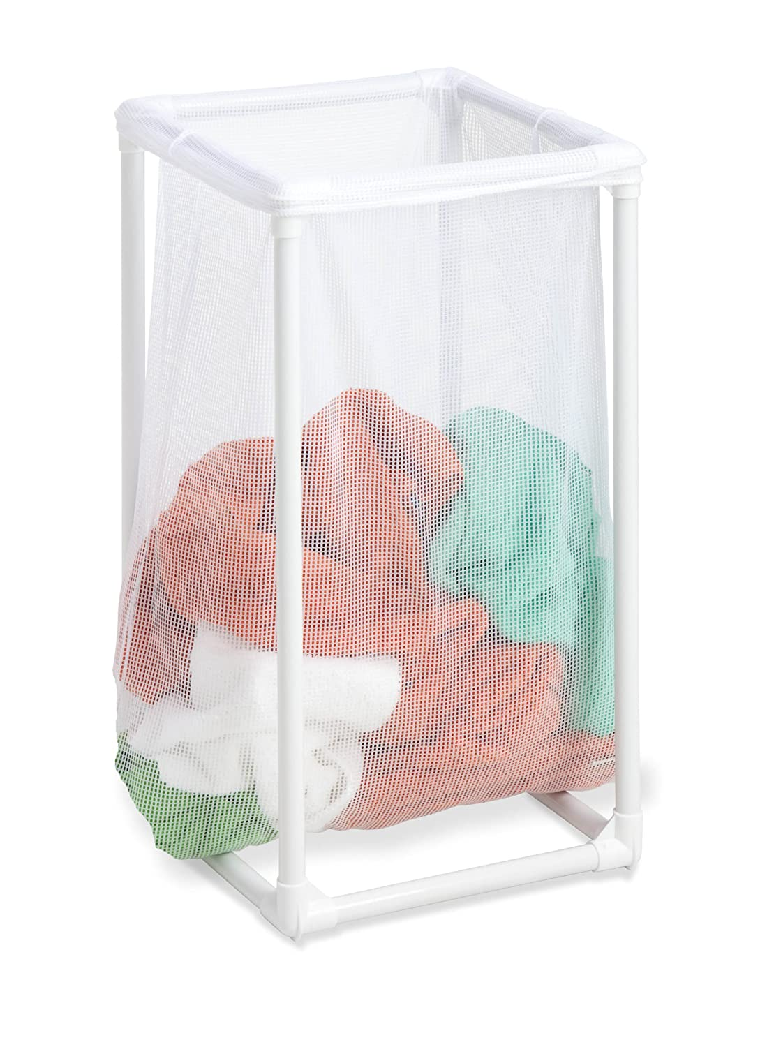 Amazon.com: Honey-Can-Do HMP-01627 1-Bag Mesh Laundry Hamper: Home ...