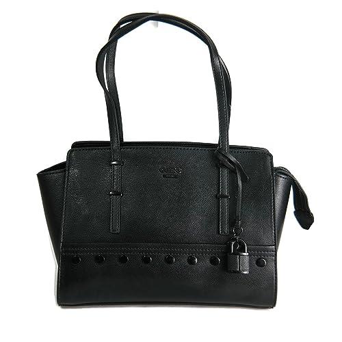 Guess Devyn Satchel Shoulder Handbag, Black, BB642108