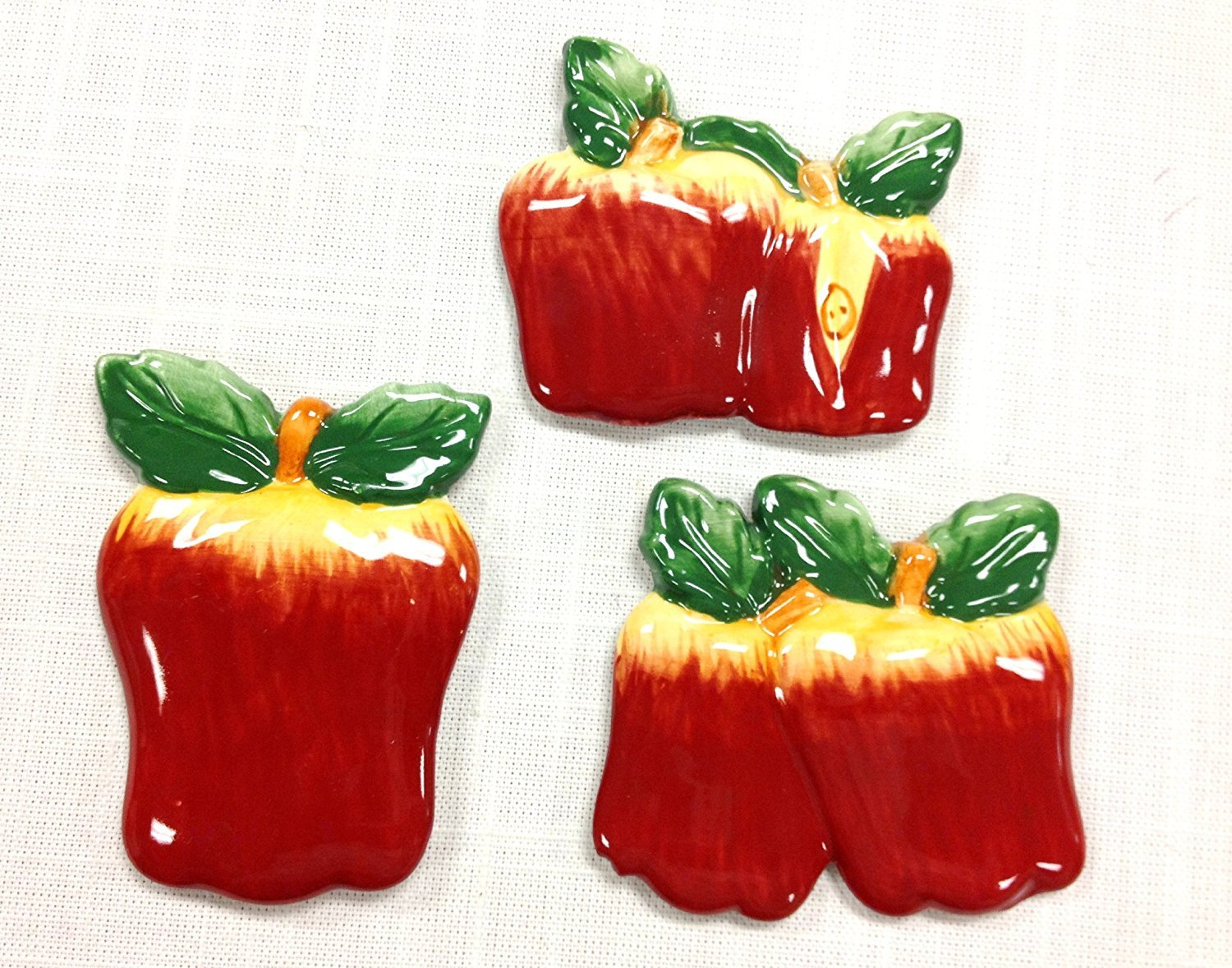 3 Assorted Apple Magnets