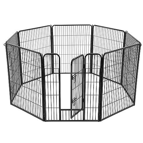 FEANDREA Parque para Mascotas de 8 Paneles, Jaula para Perros de ...