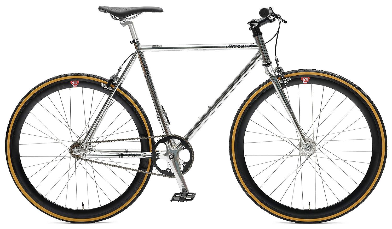 Chrome & Black 53cm, m Retrospec Mantra V2 Single SpeedFixed Gear   7speed Bicycle