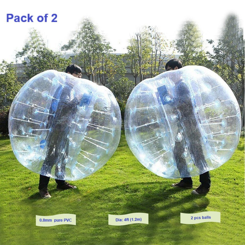 FOSHAN MINGZE Set of 2 Commercial Grade Inflatable Bumper Ball, PVC Wearable Knocker Zorbing Ball, Giant Bubble Soccer Ball for Outdoor Play Team Game (2) by FOSHAN MINGZE