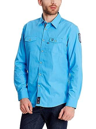Macson Camisa Hombre Turquesa 2XL: Amazon.es: Ropa y accesorios