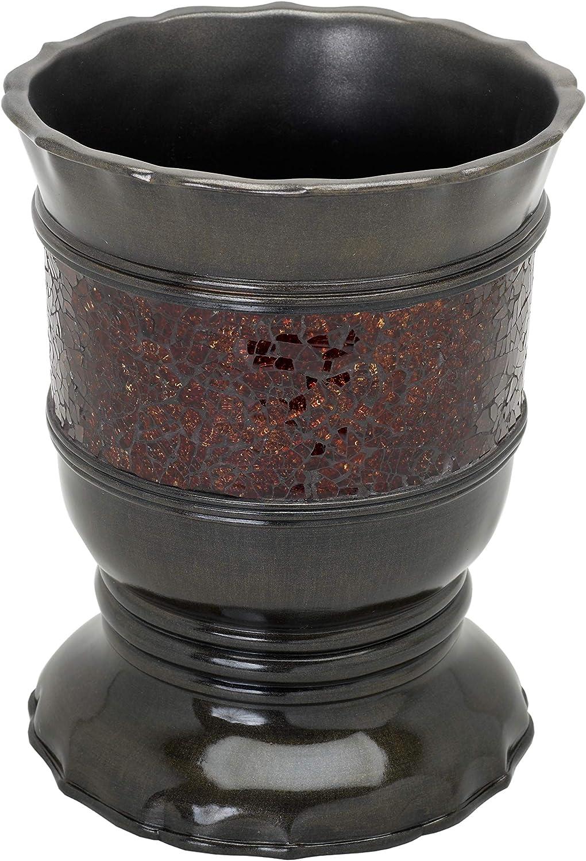 Zenna Home, India Ink Prescott Waste Basket, Bronze wastebaskets