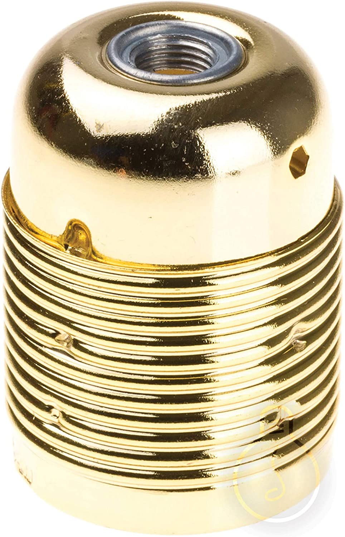 Portalampada Metallo Vintage E27 Oro Lucido per il fai da te pendle e lampadari