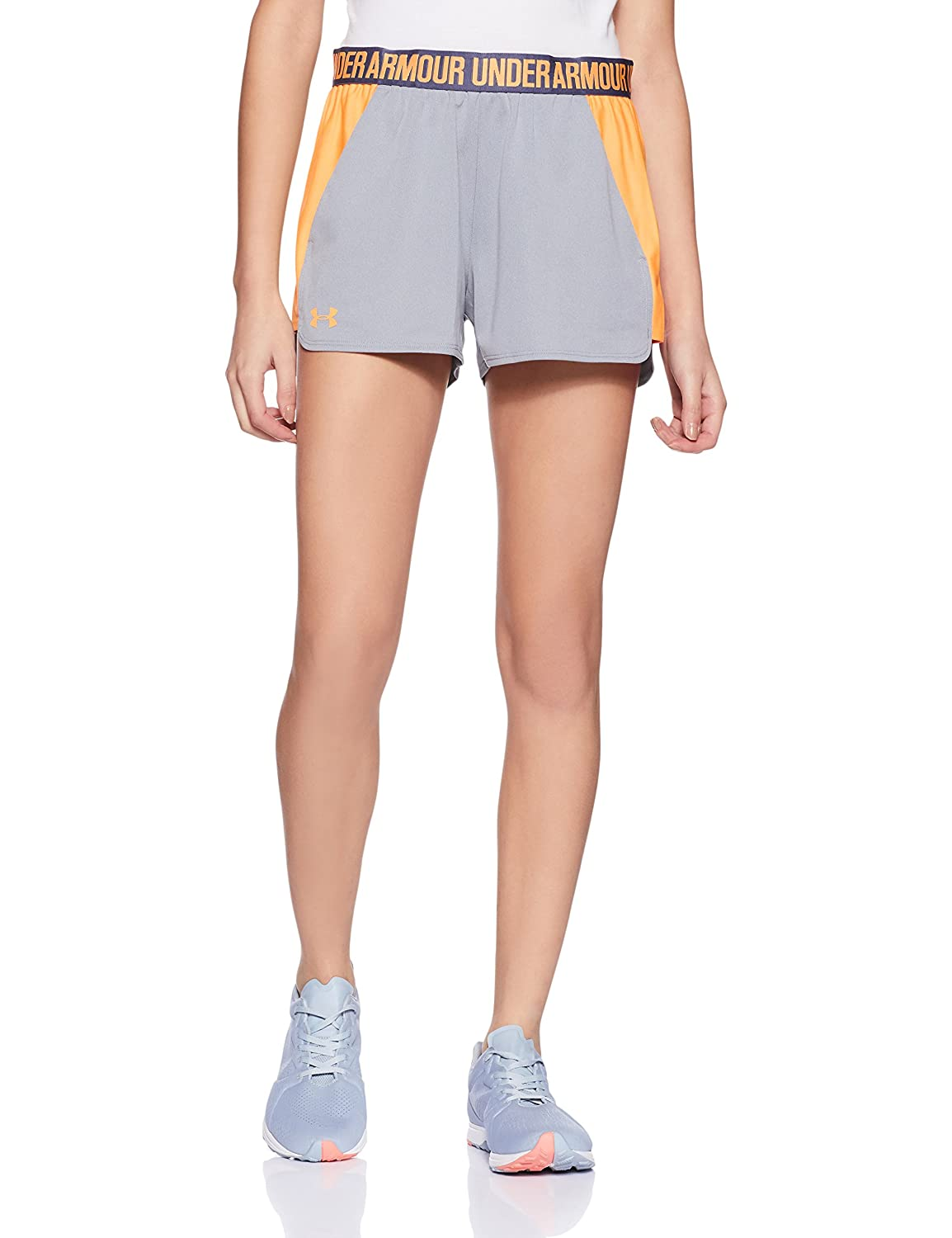 (アンダーアーマー) UNDER ARMOUR プレイアップショーツ(トレーニング/ショートパンツ/WOMEN)[1292231] B01M8KU3KG Small|True Gray Heather/Orange Peel True Gray Heather/Orange Peel Small