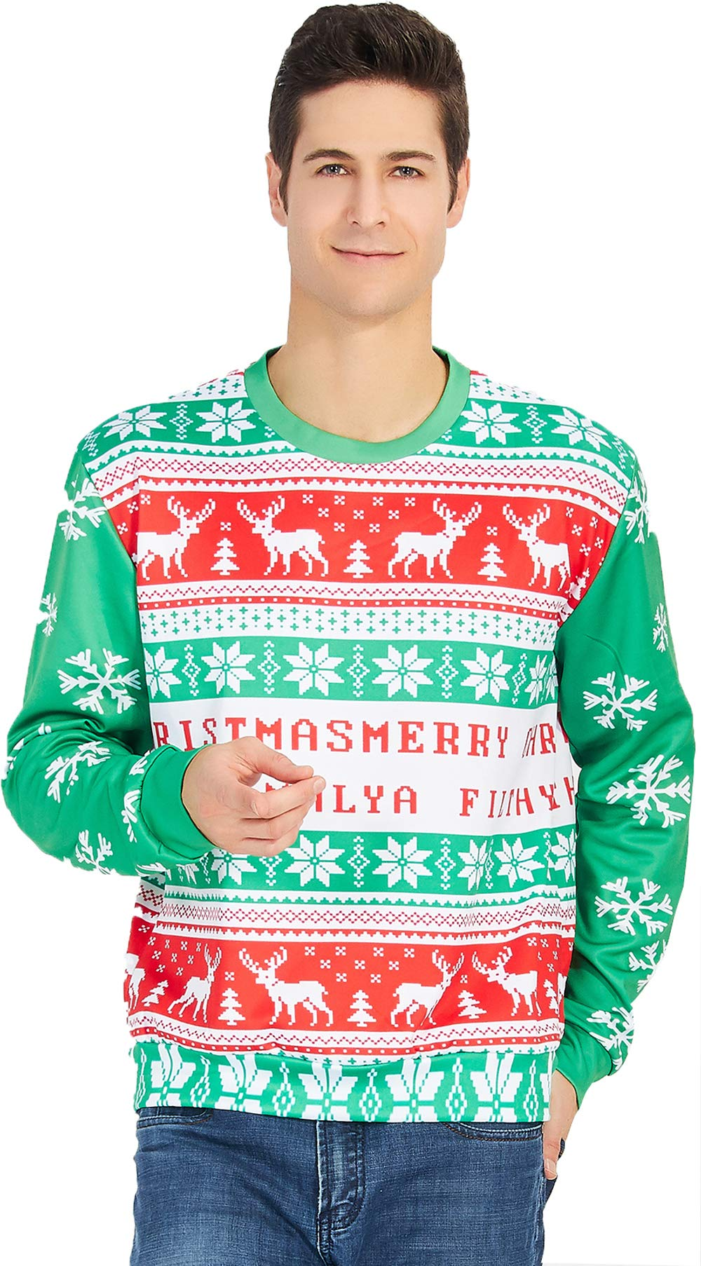 Leapparel Unisex Christmas Crewneck Sweatshirt