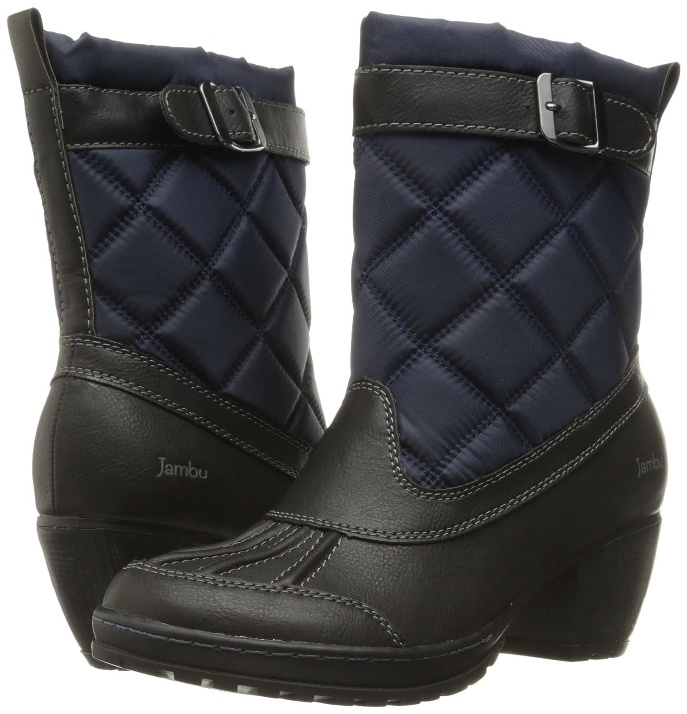 Jambu Frauen Dover-Vegan Runder / Zeh Fashion Stiefel Marineblau / Runder Schwarz be4476