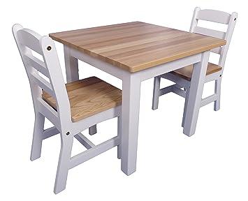 Kinder Möbel Set U0026quot;Landhausu0026quot; | Holztisch | 2 Holzstühle | Weiß