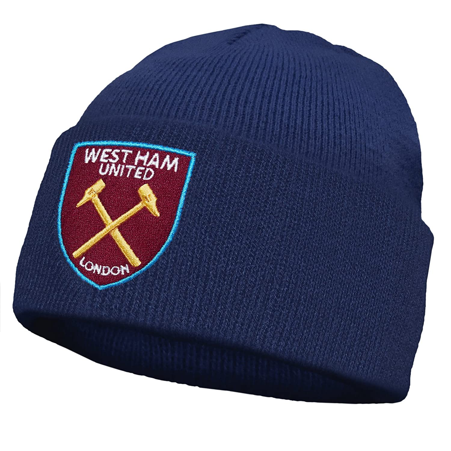 Amazon.com  West Ham United Football Club Official Soccer Gift Knitted  Beanie Hat Black  Clothing 9988a76cc1b