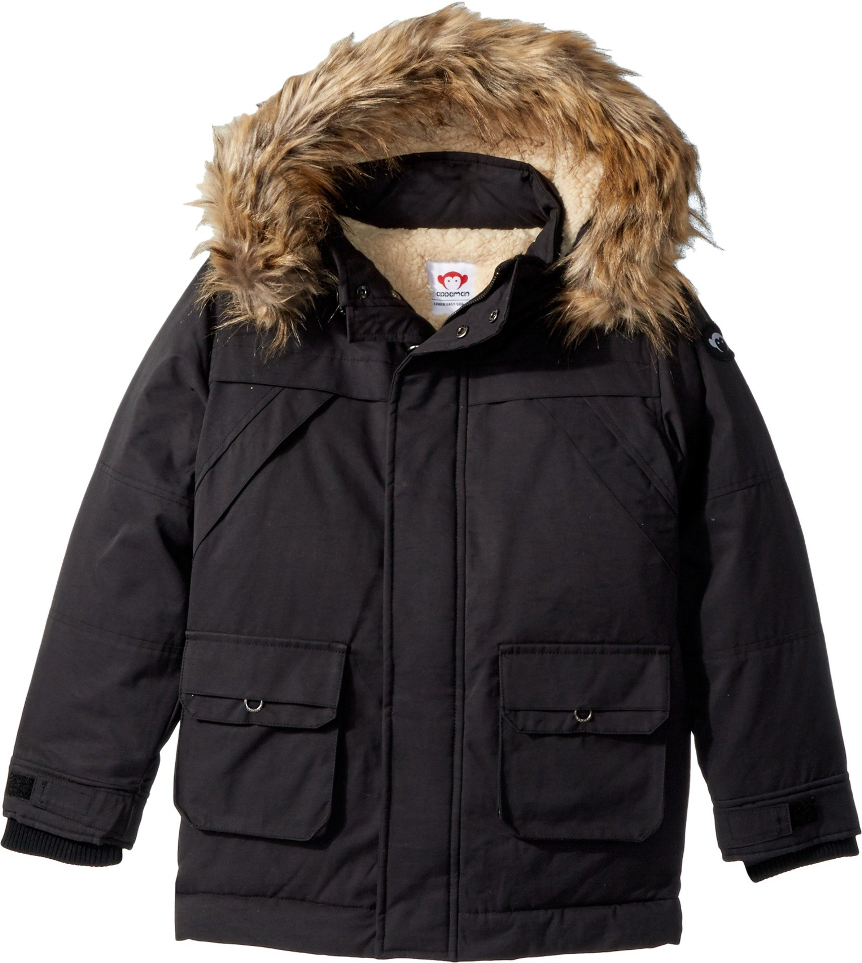 Appaman Kids  Baby Boy's Denali Down Coat (Toddler/Little Kids/Big Kids) Black 14