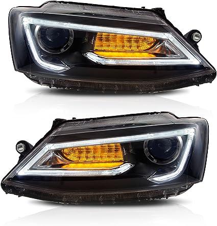 aoedi Faro para 2011 – 2014 Volkswagen Jetta LED proyector negro ...