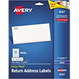 Avery Mailing Address Labels, Inkjet Printers, 2,000 Labels, 1/2 x 1-3/4, Permanent Adhesive, Easy Peel (8167)