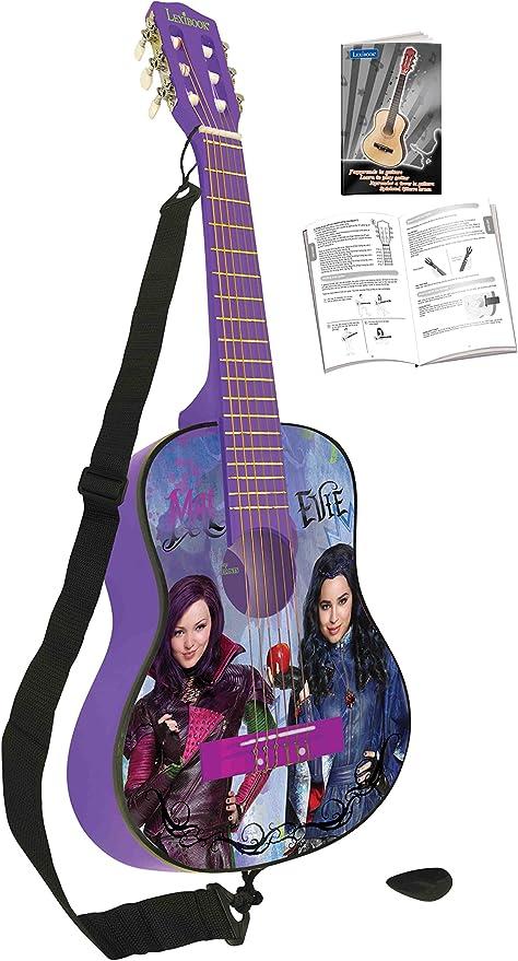 Los Descendientes de Disney K2000TD Disney, Los Descendientes-Guitarra clásica de 6 Cuerdas, 78 cm Largo, Madera (Lexibook, Color Morado: Amazon.es: Juguetes y juegos