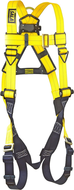 Pass-Thru Buckle Legs Back D-Ring 420 lb Capacity 3M DBI-SALA Delta 1103321 Vest Style Harness Yellow//Navy Universal