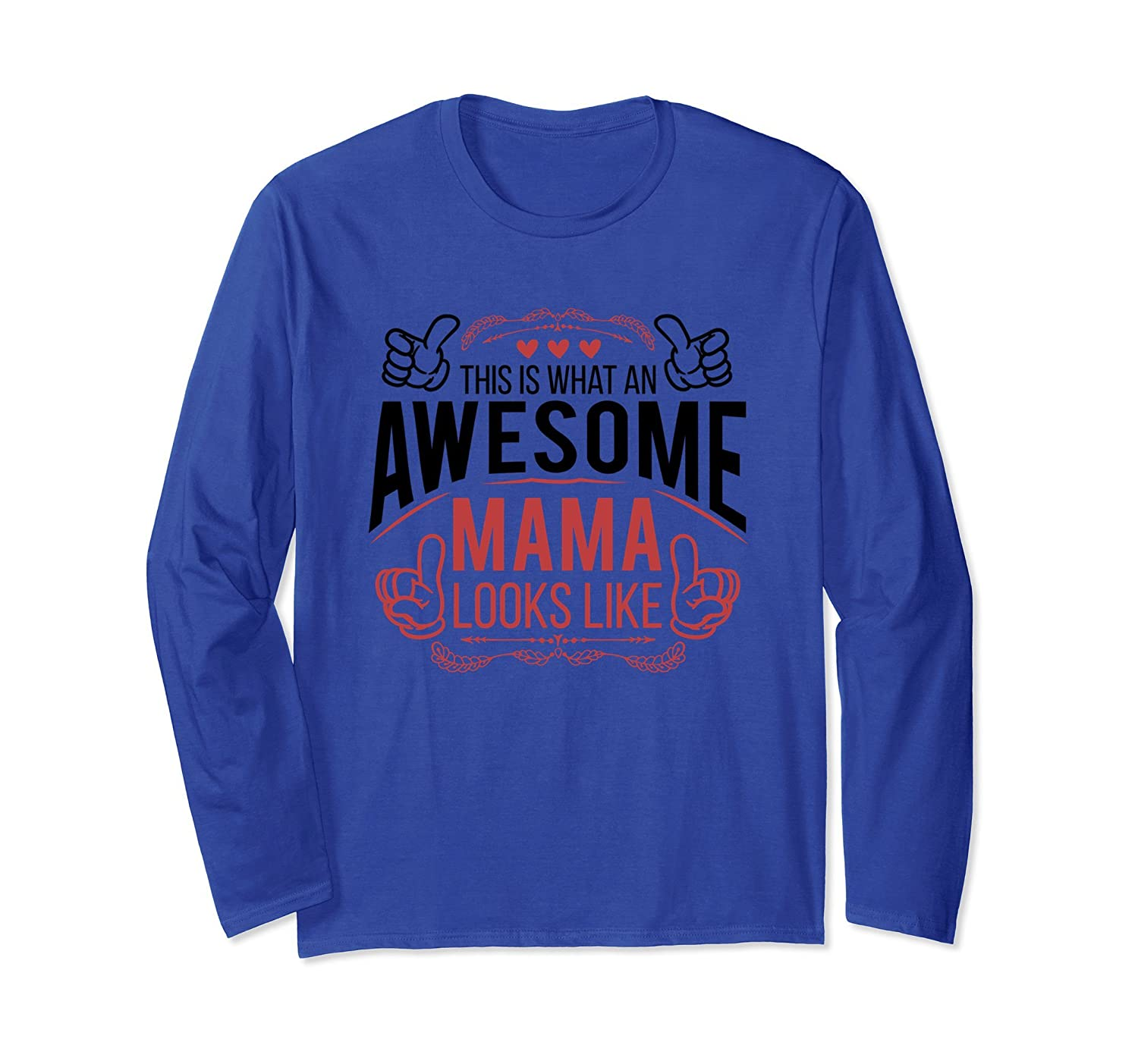 Awesome Mama Long sleeve T-Shirt-alottee gift