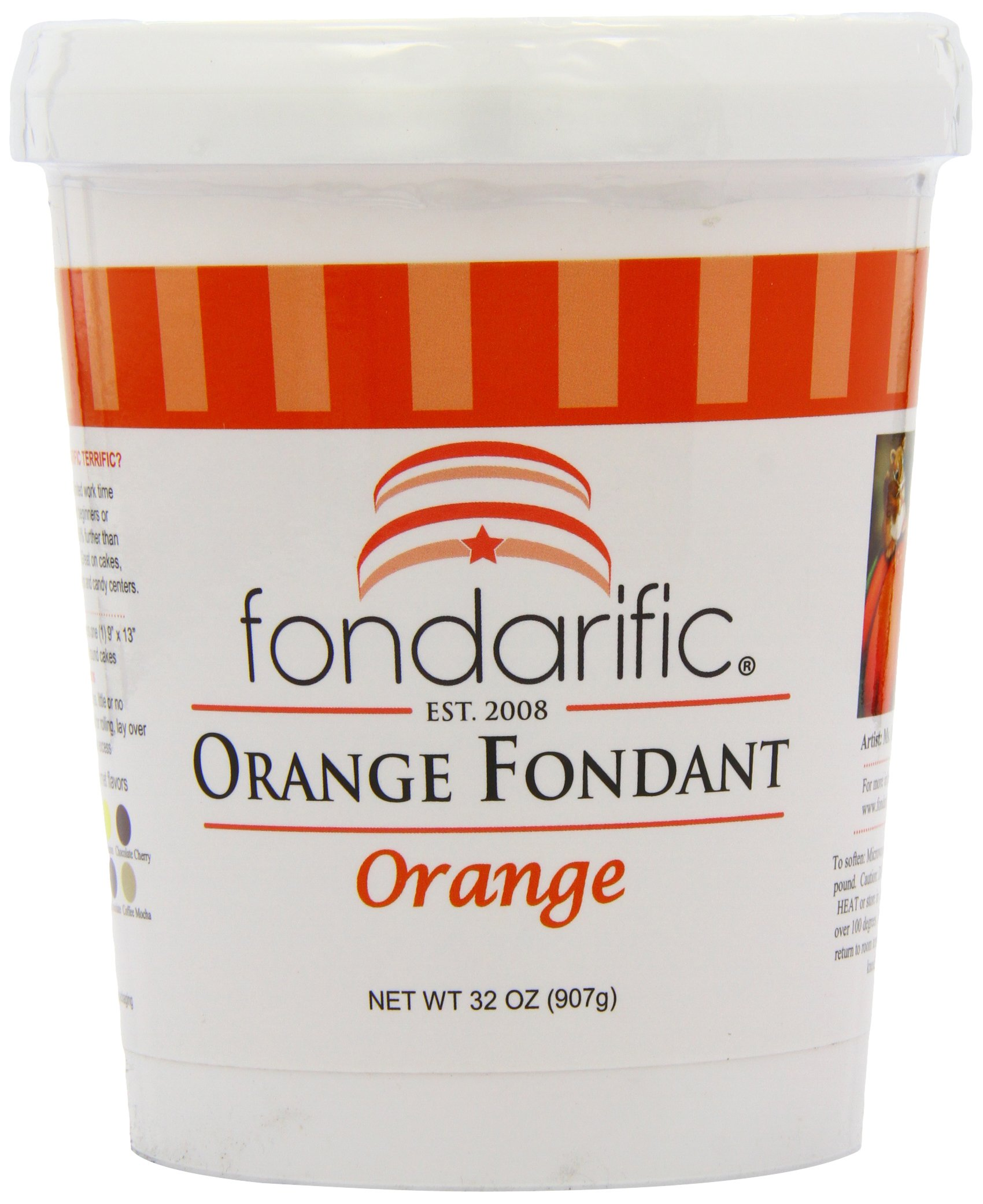 Fondarific Orange Fondant, 2-Pounds
