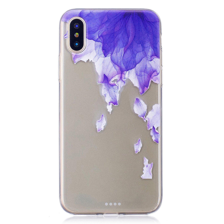 Flymaff iPhone X Fall + [Free Displayschutzfolie], Ultra Slim Weiche Silikon Premium Gel TPU Fashion Dünn Cover iPhone X [14,7cm] 7cm] iPhone X 5.8