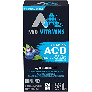 MiO Vitamins Blueberry Acai Drink Mix (5 On-the-Go Packets)