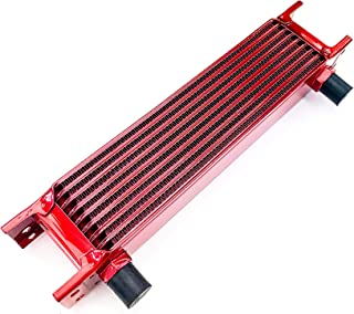 product image for Speedline'z Motorsports 9 Row High Performance Oil Cooler With 8AN Fitment For Auto, Truck, Motorcycle, UTV, Side by Side and ATV's. High Performance Candy Red Powder Coated, 24 Month Warranty