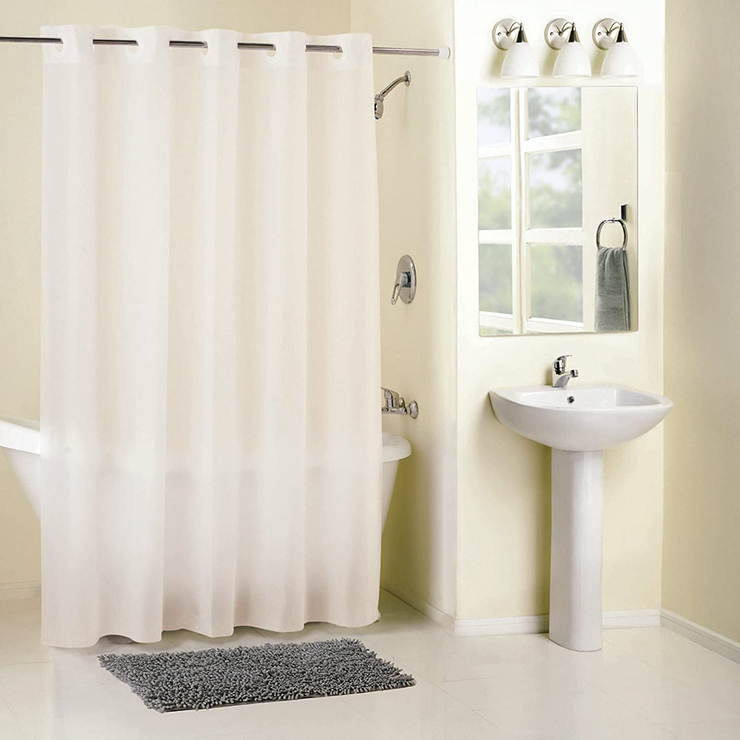 Amazon.com: Hookless RBH14FU411 PEVA Shower Curtain - Splash: Home ...