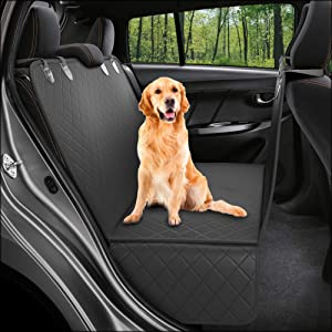 Dog Back Seat Cover Protector Waterproof Scratchproof Nonslip Hammock for Dogs Backseat Protection Against Dirt and Pet Fur Durable Pets Seat Covers for Cars & SUVs