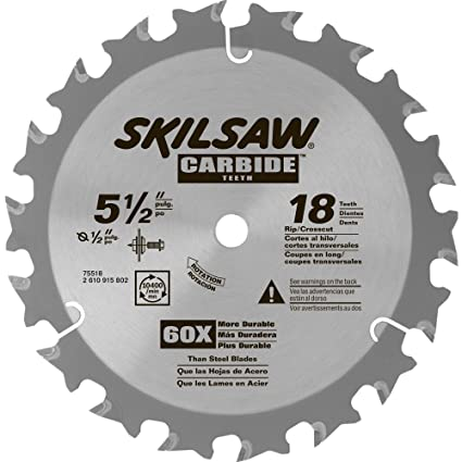 Skil 75518 5 12 in 18 tooth carbide blade for hd5510 circular saw skil 75518 5 12 in 18 tooth carbide blade for hd5510 keyboard keysfo Choice Image