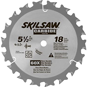 Skil 75518 5 12 in 18 tooth carbide blade for hd5510 circular saw skil 75518 5 12 in 18 tooth carbide blade for hd5510 greentooth Image collections