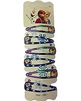 Disney Frozen Lot de 6barrettes Pinces à cheveux Barettes avec magnifique Carte
