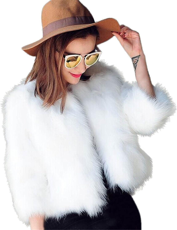 Longra Chaquetas de Mujer, 2017 Natural Conejo Chaquetas Corto Piel de Las Mujeres Abrigos de Invierno con la Manga Larga,Jacket,Outwear