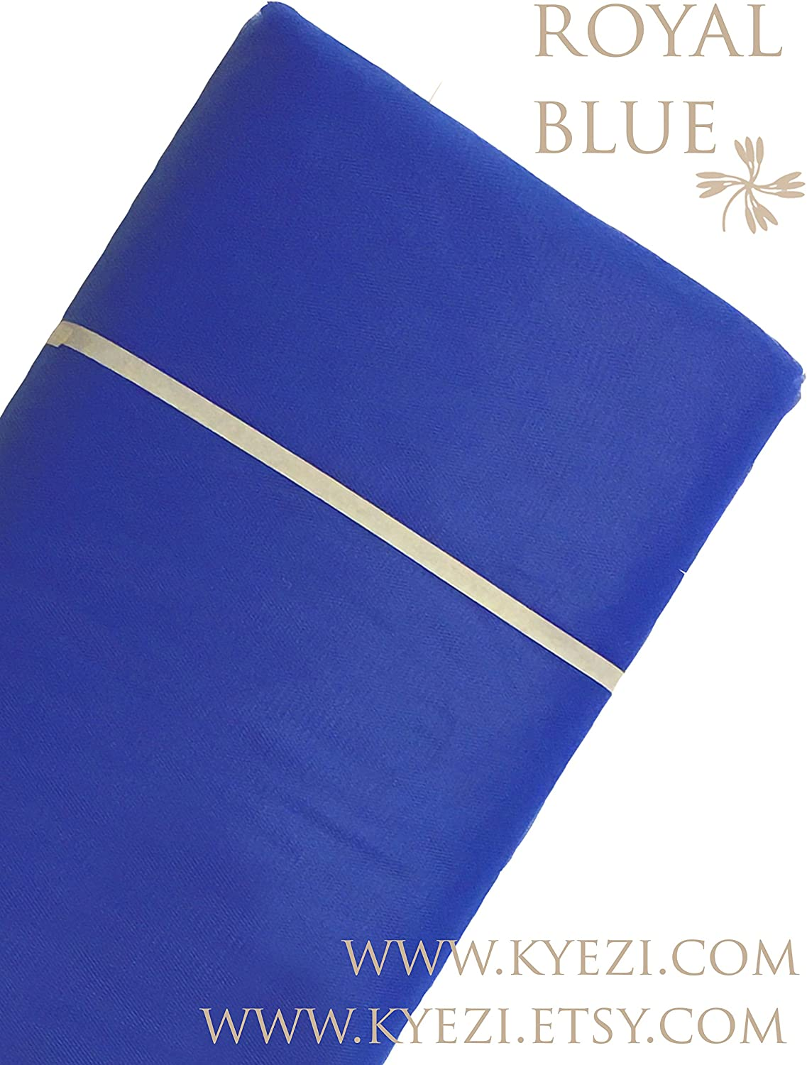 Craft And Party 120 ft Royal Blue Fabric Tulle Bolt for Wedding and Decoration 54 by 40 Yards