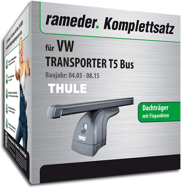124911-05005-5 Dachtr/äger SquareBar f/ür VW Transporter T5 Bus Rameder Komplettsatz