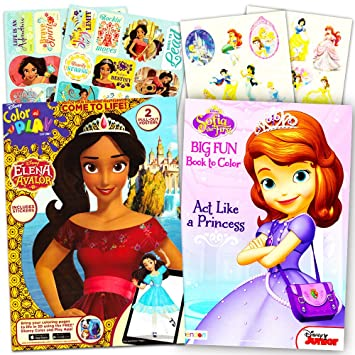 Elena Of Avalor Coloring Book Super Set 2 Books Featuring And Sofia The