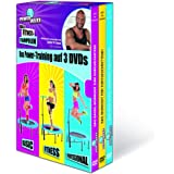 TV unser Original Power Maxx Trainings DVDs für Fitness Trampolin 3er Set, 00179
