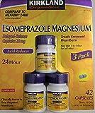 Kirkland Signature Esomeprazole Magnesium Acid reducer 42 capsules compare to Nexium 24 hour Delayed-release capsules 20mg Treats frequent heartburn