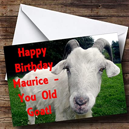 Amazon.com : Old Goat Funny Personalized Birthday Greetings Card : Office Products